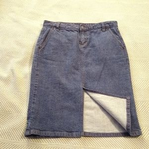 J. Crew Denim Pencil Skirt Size 4